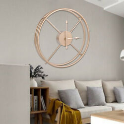 40cm Modern Hanging Wall Clocks Circular Shaped Metal Abstract Clock Home Decors