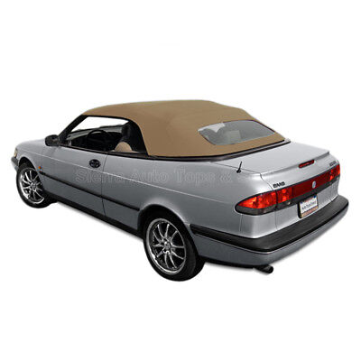 Saab 900S/SE Convertible Top 95-96 in Tan Stayfast Cloth, Glass Window for sale  North Hollywood