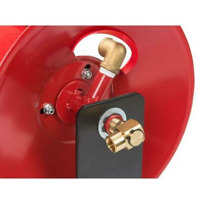 100 ft. hand crank air hose reel | tekton manual wall tools garage steel mount ()