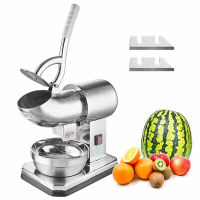 Electric Snow Cone Maker Machine Ice Crusher Smoothie Shaver Dual Blades Cafe