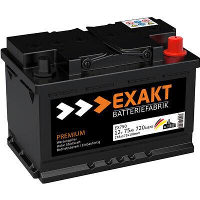 Autobatterie 12V 75Ah 720A/EN ersetzt 70AH 71AH 72AH 74AH 75AH 77AH 80AH