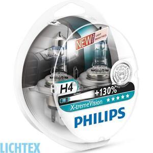 H4 PHILIPS X-tremeVision - Take performance Scheinwerfer Lampe DUO-Box NEU