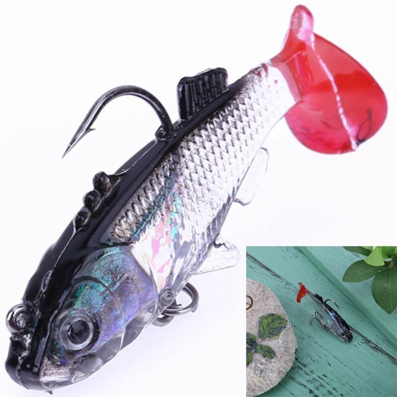 New Swimming Trout Crank Silicone Soft Lures Worm Fishing Baits