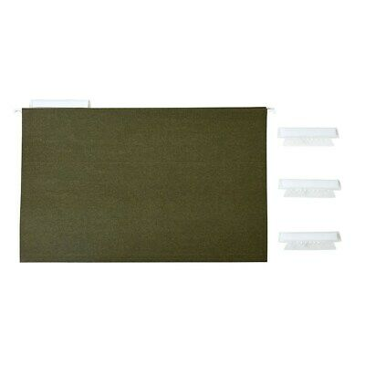 Staples Hanging File Folders 3 -tab Legal Size Standard Green 25bx 163352
