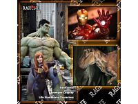 Hire Life Size Superheroes Marvel Hulk & Iron Man Statues & Realistic Dinosaur For Parties Events