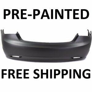 NEW Painted to Match- Rear Bumper Cover Replacement for 2011-2013 Hyundai Sonata