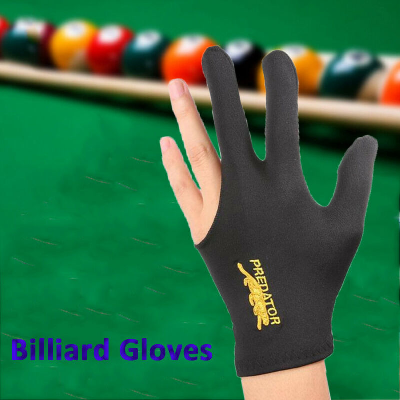 Smooth Left Hand Embroidery Billiard Glove Gloves Three Finger Separate-fingers