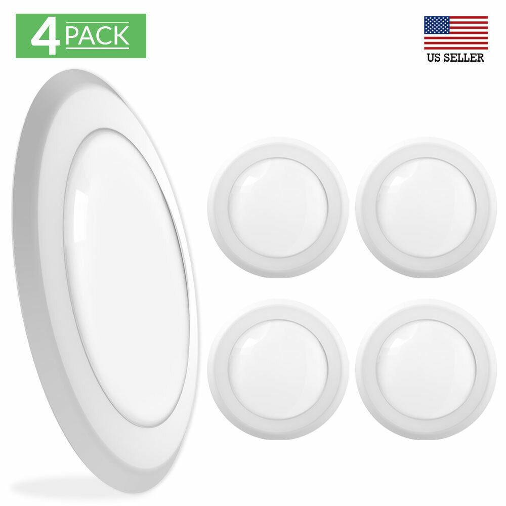 Sunco Lighting 4 Pack 5 Inch / 6 Inch Flush Mount Disk LED 2