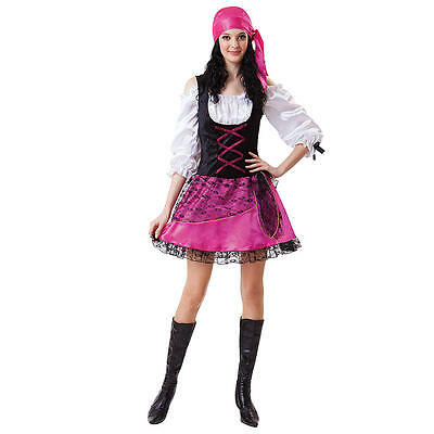 NEW Totally Ghoul Caribean Pirate Teen Girls Costume One size fits most](Teen Pirate Costumes)