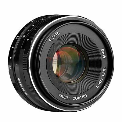 Meike MK-FX-35-1.7 35mm f/1.7 Large Aperture Manual Focus lens APS-C For Fuji X
