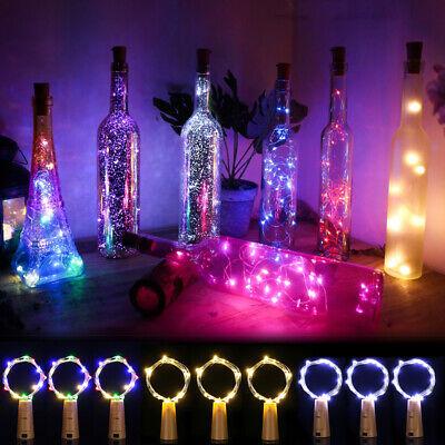 5/20/30 PCS LED Warm Cold Wine Bottle Cork Shape Night Fairy Lamp String Lights  ()
