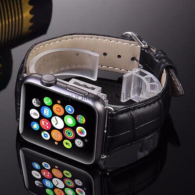 Cocodrilo Genuino Cuero Correa de banda Pulsera para Apple Watch iWatch