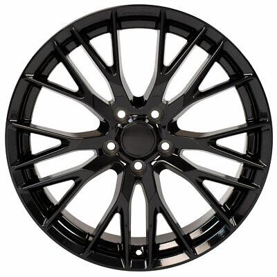 20 Inch Aluminum Wheel For 05-18 Chevy Corvette (Rear only) C7 Z06 Black Rim