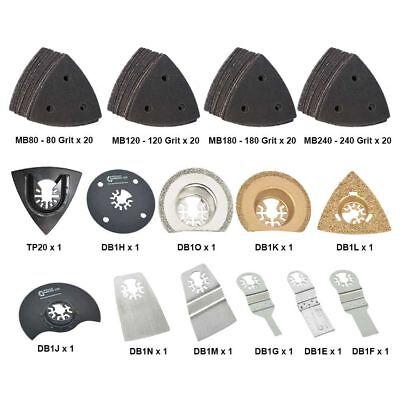 Dbmtkit2 91 Pcsuniversal Oscillating Multi Tool Woodmetal Cutting Sanding Kit