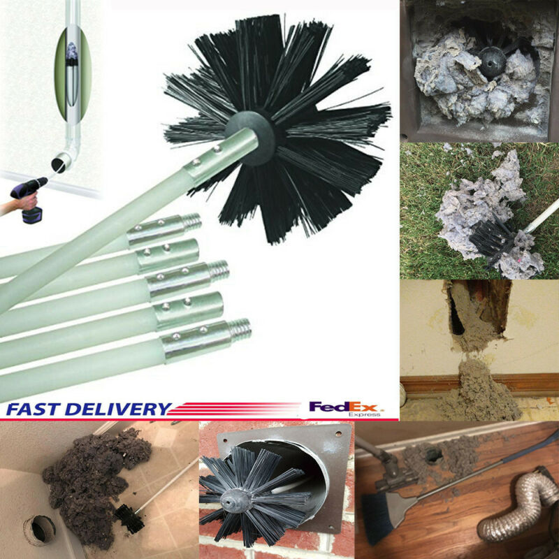"12"" Flexible Cleaner Remover Vent Lint Brush Dryer Duct Clea"