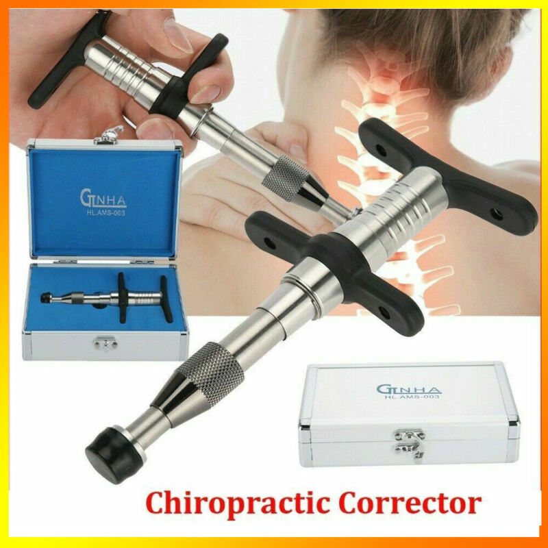 Manual Chiropractic Adjusting Tool Spine Adjusting Corrector with 4 Massager