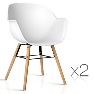 2 x Eames Replica DAW Dining Chair Cafe Home Kitchen Armchairs