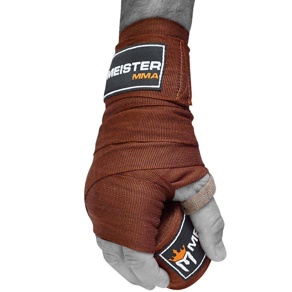 "MMA Cotton Boxing Mexican PAIR MEISTER URBAN CAMO 180/"" SEMI-ELASTIC HAND WRAPS"