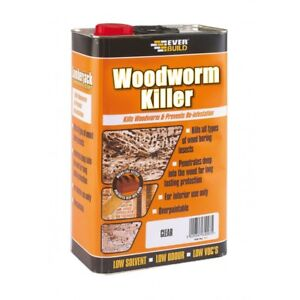 EVERBUILD WOODWORM INSECT KILLER WOOD TREATMENT LOW ODOUR & SOLVENT 5 LITRE