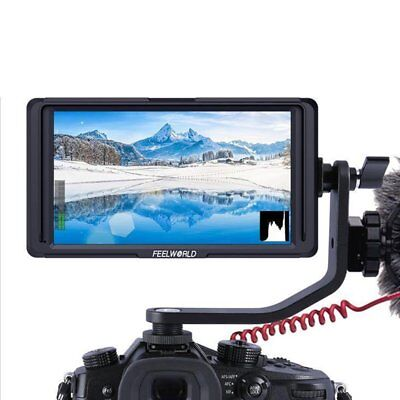 "Feelworld F6S 5.7"" 4K HDMI 1080P Video Monitor Sony Nikon Canon DSLR/Mirrorless"