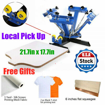 Local Pick Up 4 Color 1 Station Screen Printing Press Diy T-shirt Press Printer