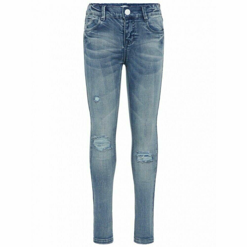 Trennschuhe heißer verkauf billig für die ganze Familie Name it Mädchen Jeans Skinny Hose Jeanshose Light Blue Denim ...