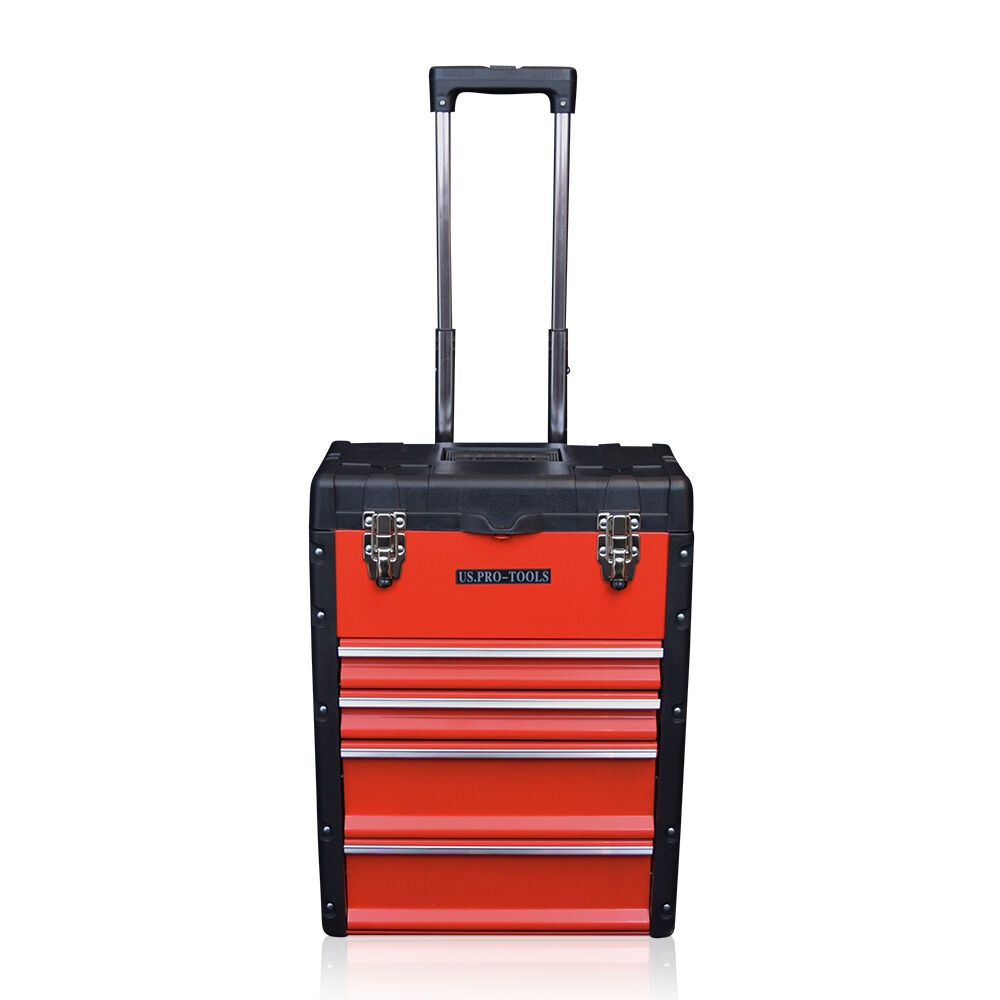 318 Us Pro Tools Red Mobile Rolling Wheels Trolley Cart