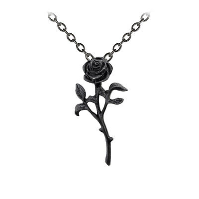 Romance Of The Black Rose Pendant Alchemy Gothic Pewter P695