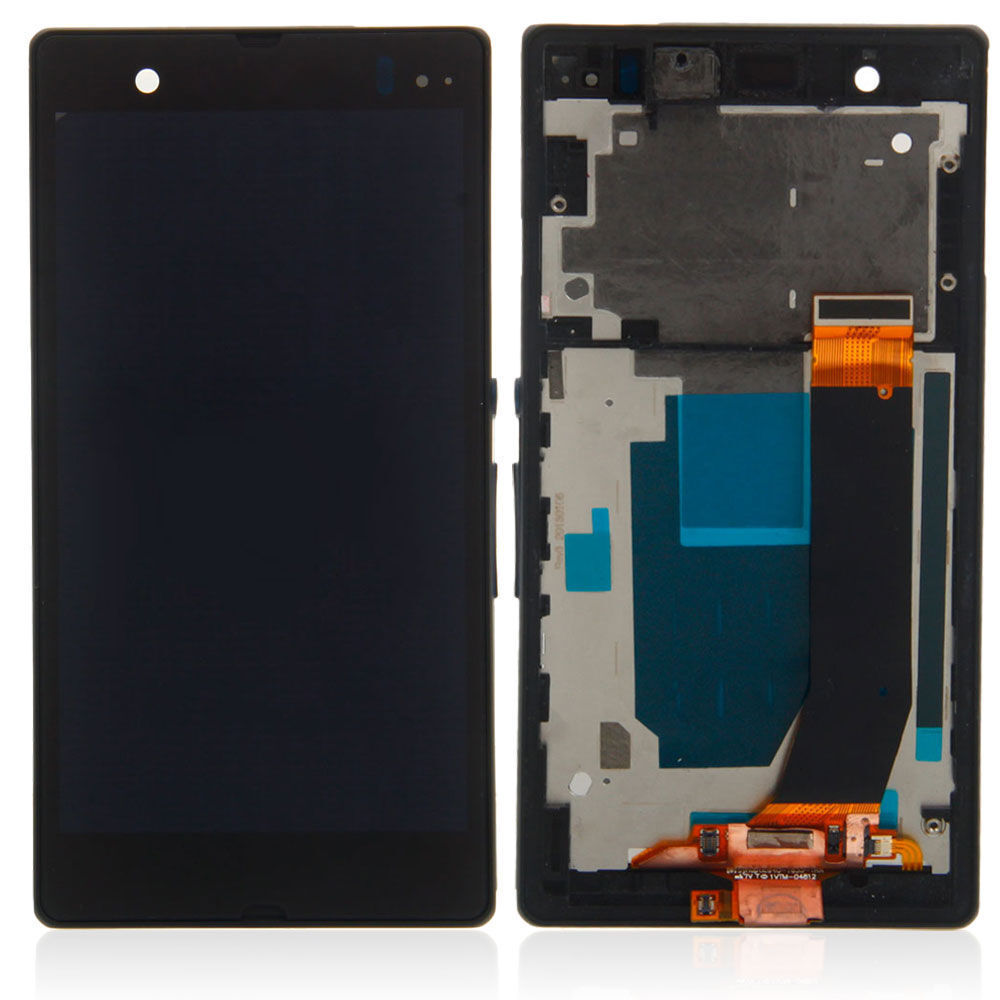 Full Lcd Touch Screen Digitizer W/frame For Sony Xperia Z...