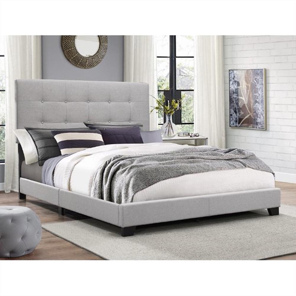 Platform Bed Frames Twin Size Upholstered Headboard Tufted B