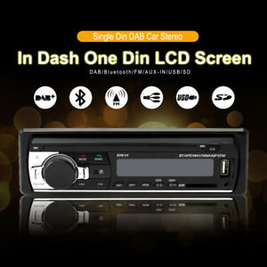 1 DIN Car Radio DAB+ Bluetooth Stereo Head Unit MP3/USB/SD/AUX-IN/FM UK STOCK
