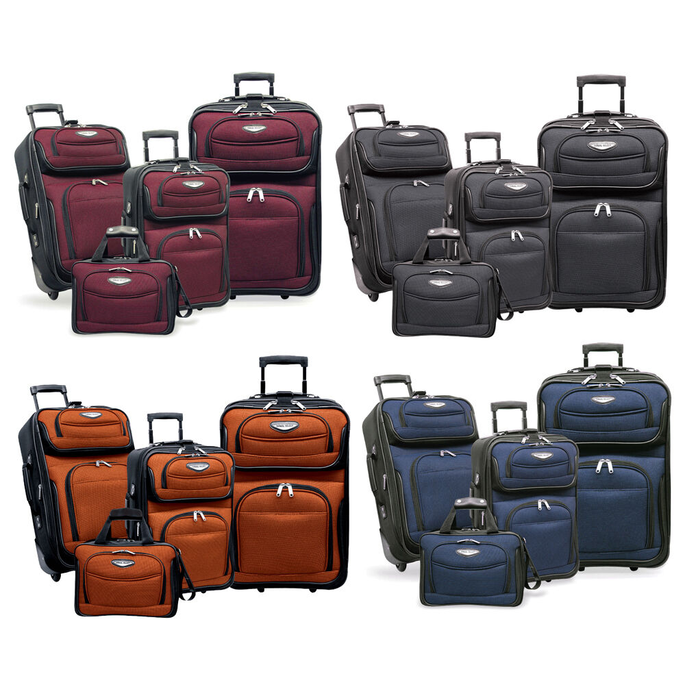 Amsterdam 4-Piece Light Expandable Rolling Luggage Suitcase