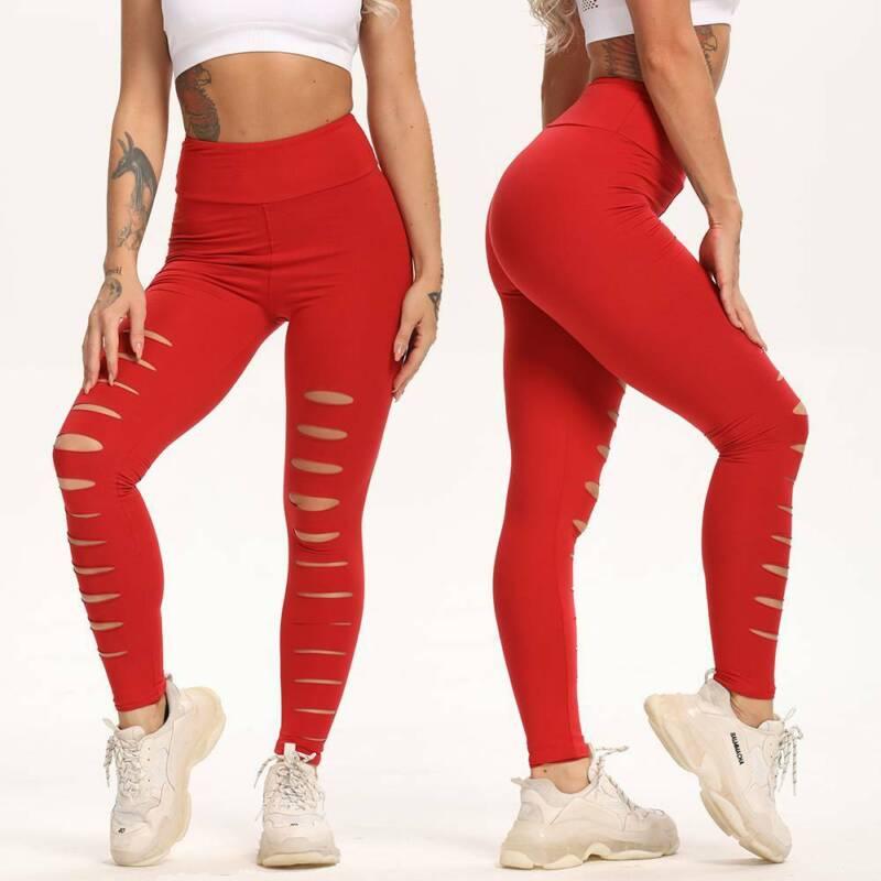 Women/'s Butt Lift Pants High Waist Yoga Workout Stretch Slim Leggings Trousers