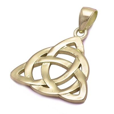 Yellow Gold Plated Celtic Design .925 Sterling Silver Pendant ()