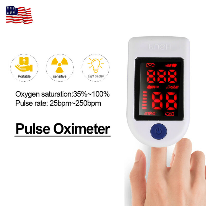 SPO2 Finger Pulse Oximeter Blood Oxygen Saturation Meter Sensor Monitor US FDA