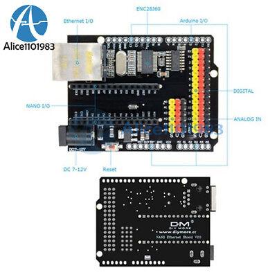 Enc28j60 Ethernet Network Module Shield V2.0 For Arduino Uno R3 Ch340 Nano V3.0