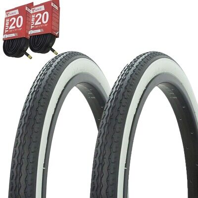 "Bicycle Bike Tires /& Tubes 24/"" x 2.125/"" Black//White Side Wall P-123A 1PAIR"
