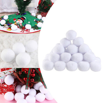 50Pcs Winter Indoor Kids Game Fake Snowball Fight Plush White Snow Ball Decor