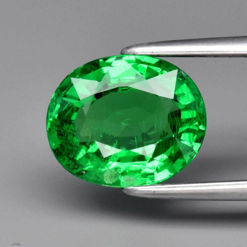 Attractive! 1.93ct 8.5x7mm Oval Natural Shocking Green Tsavorite Garnet Tanzania