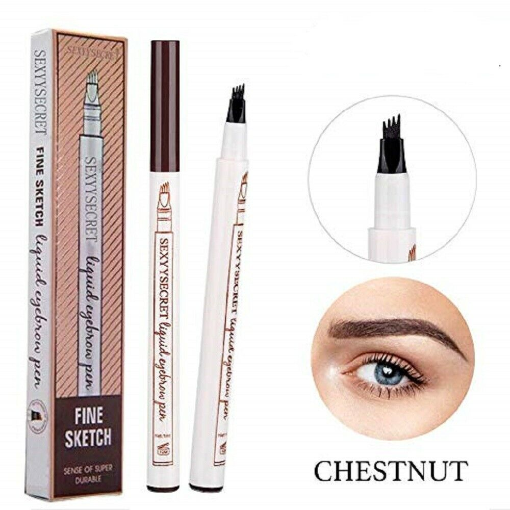 Microblading Tattoo Eyebrow Ink Fork Tip Pen Eye Brow 3D Makeup Pencil 4 Colors Eyebrow Liner & Definition