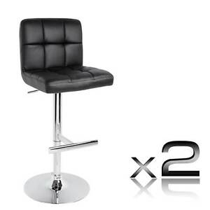 NEW FREE SHIPPING - Set of 2 PU Leather Kitchen Bar Stool Black Lonesome Creek Banana Area Preview