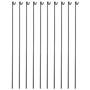 Metal Fencing Pins Pack of 10. Steel Barrier Fence Stakes Event Road Pins 1300mm