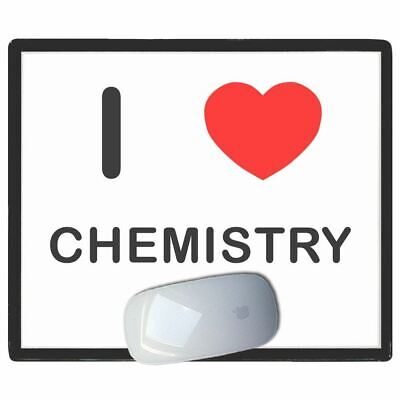 I Love Heart Chemistry - Thin Pictoral Plastic Mouse Pad Mat Badgebeast