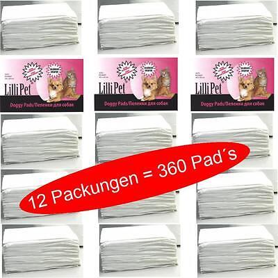 360 Trainingsmatten Doggy, Puppy Pads Welpentoilette, Welpenunterlage 40 x 60 cm