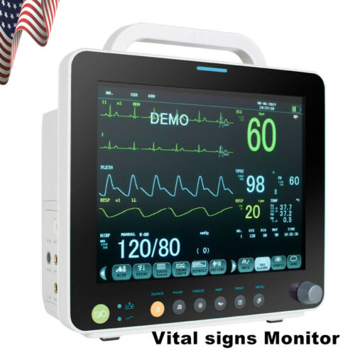 Hospital Vital Sign Monitor ECG/NIBP/RESP /TEMP SPO2 PR 6 parameter ICU Monitor
