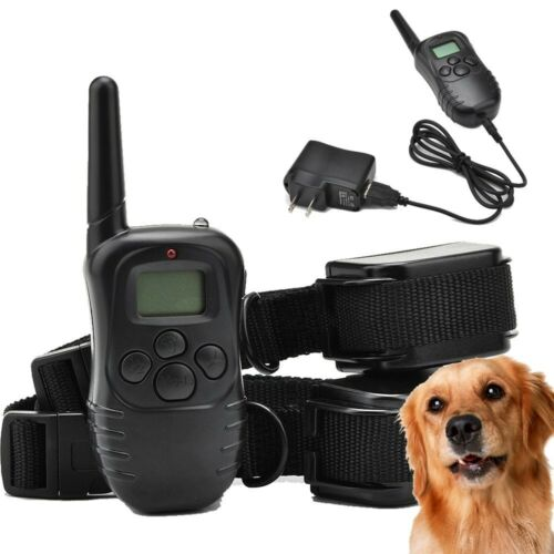 Newest Rechargeable LCD 100LV Level Shock Vibra Remote 2 Dog Training Collars