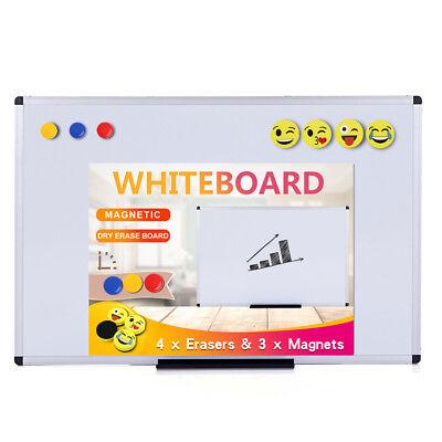 Viz-pro Magnetic Whiteboarddry Erase Board Includes 4 Erasers 3 Magnets
