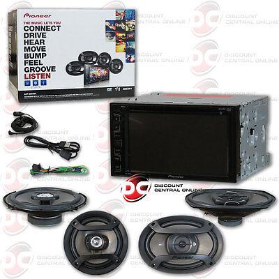 PIONEER DOUBLE DIN CAR DVD MP3 USB CD STEREO + 6.5