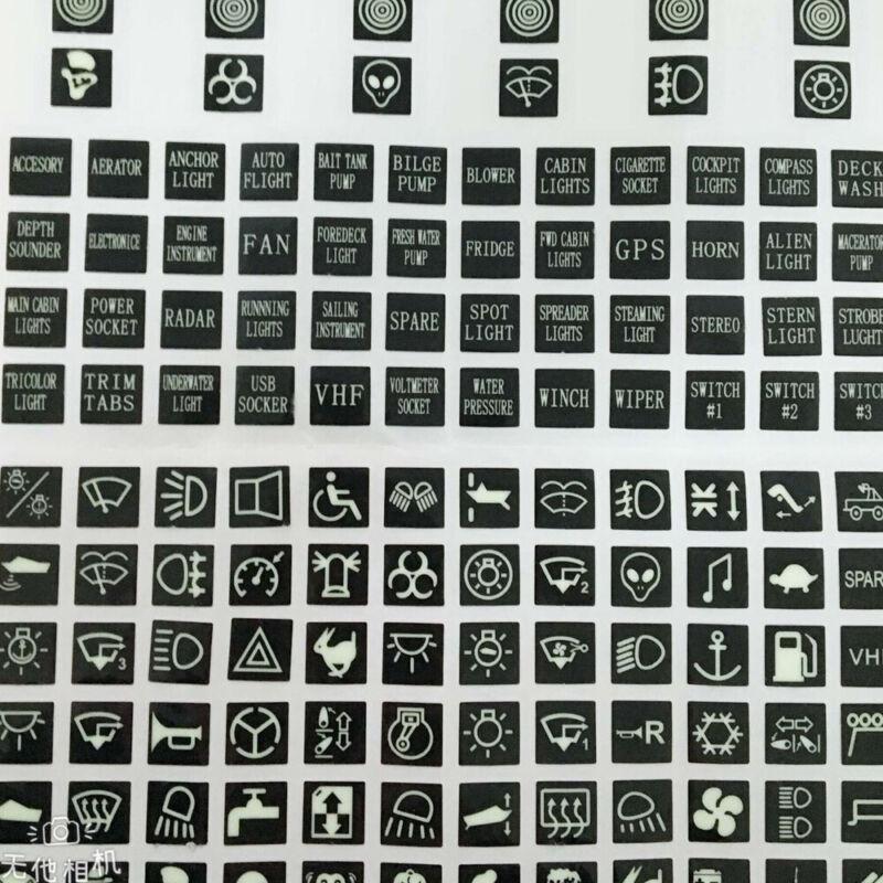 ::Car Marine Auto Instrument Rocker Switch Label Decal Circuit Panel Sticker