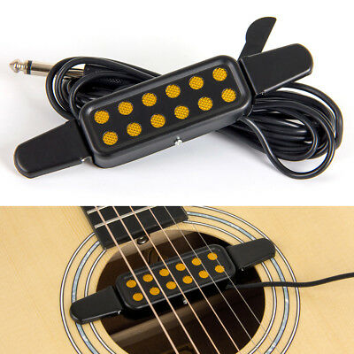 Acoustic Guitar Soundhole Pickup Microphone Amplifier Speaker 12 Hole Pickup